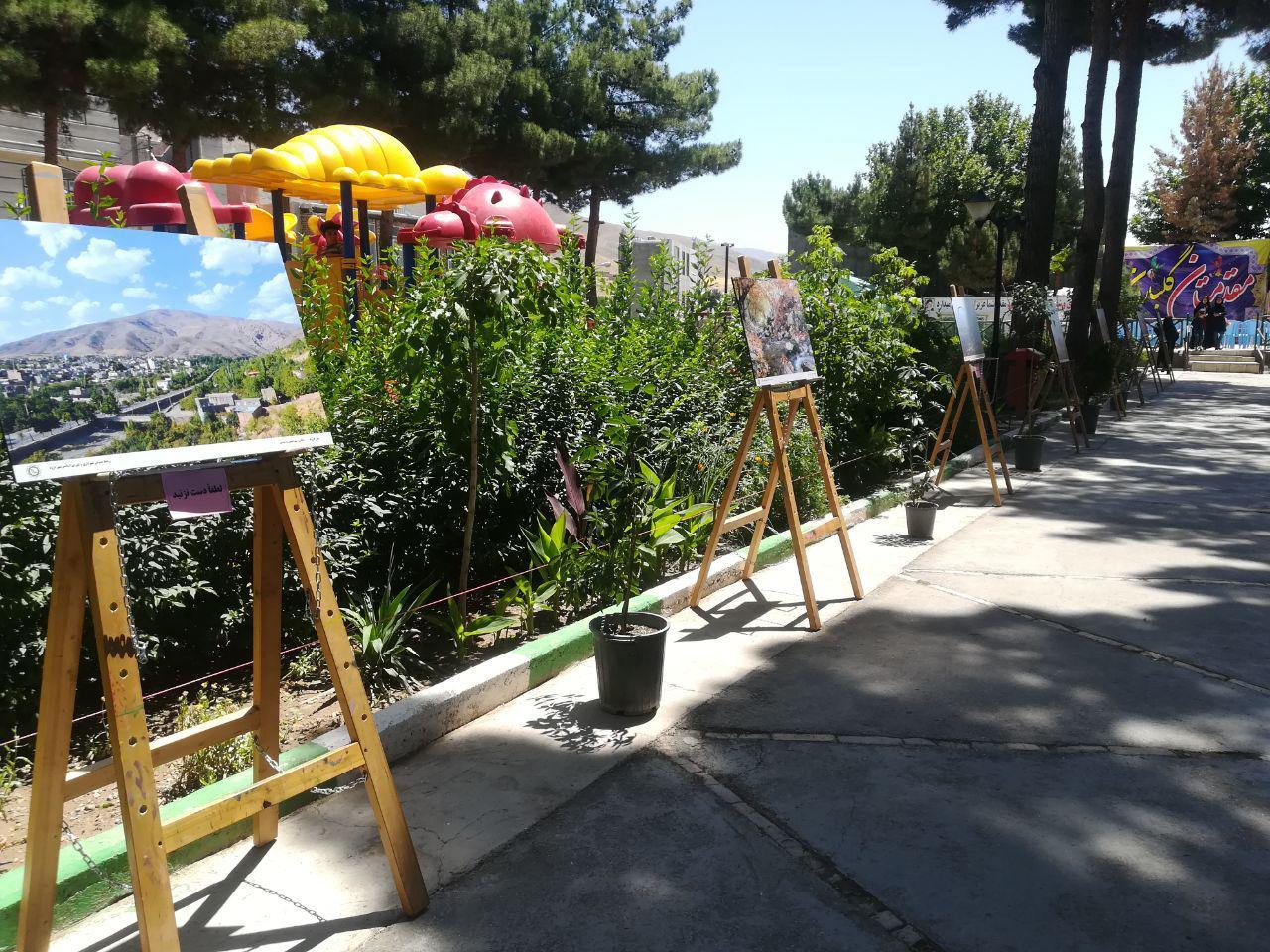نمایشگاه عکس ونقاشی طبیعت در شهر درود