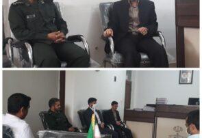 فرماندهان حوزههای مقاومت بسیج شهید باهنر صالح آباد و شهید رجایی جنتآباد با ریاست دادگاه عمومی این شهرستان دیدار کردند
