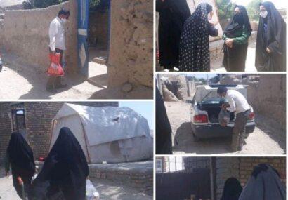 تهیه وتوزیع بسته های معیشتی بین زنان سرپرست خانوار و بانوان بد سرپرست صالح آباد