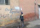پاکسازی بیش از ۶۰ هزار مترمربع دیوارنویسی و برچسبهای تبلیغاتی طی ۷ ماه نخست سال جاری در شهر مشهد