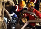 گزارش تصویری از سقوط پژو ۴۰۵ به دره در ارتفاعات خلج