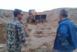 باز پس گیری یک هزار مترمربع از اراضی ملی در شهرستان طرقبه شاندیز