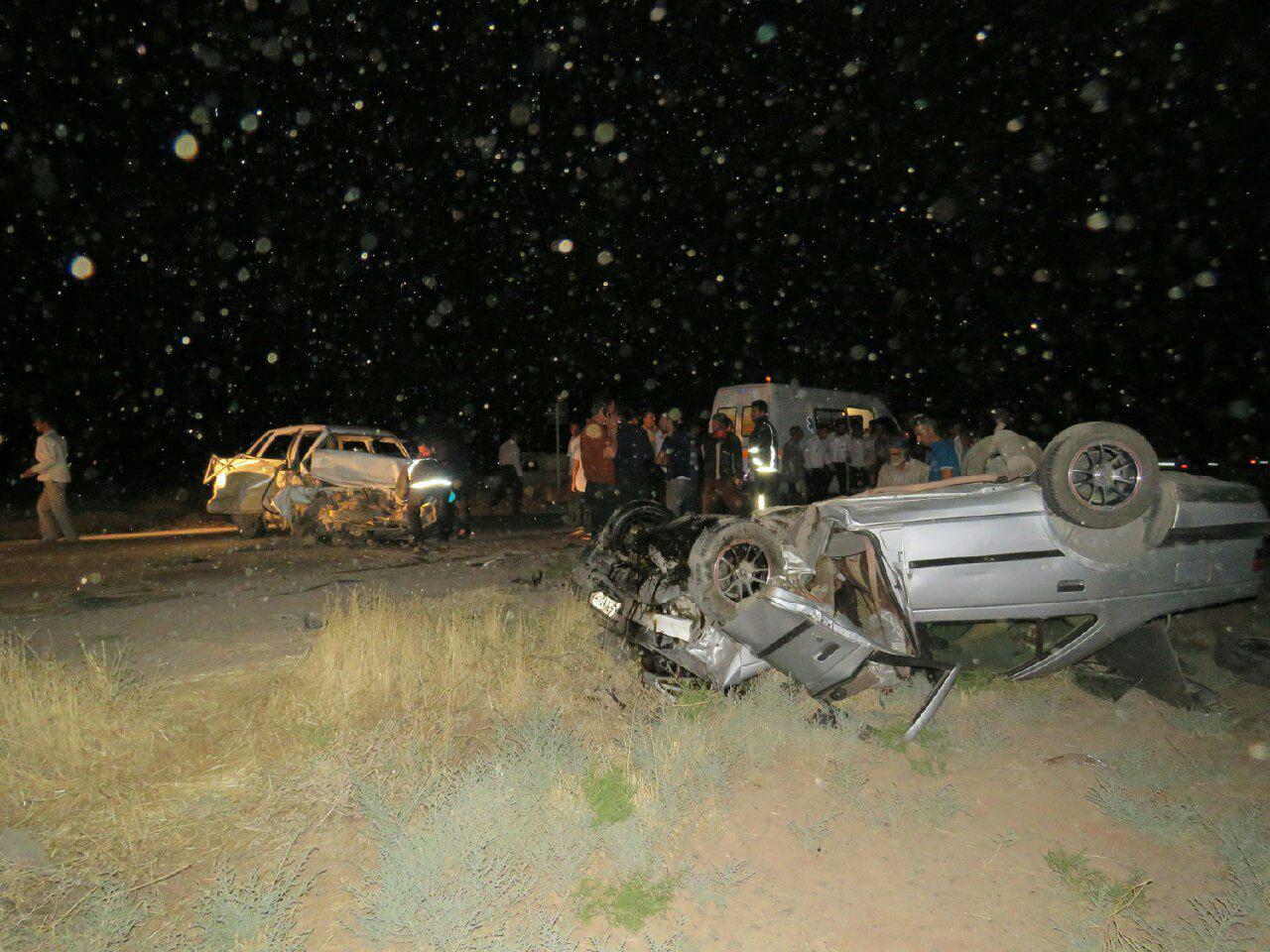 تصادف پراید و پژو در نیشابور یک کشته و ۴ مصدوم داشت