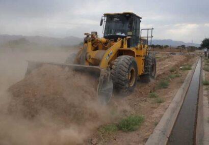 تخریب ساختوسازهای غیرمجاز در روستای ممرآباد شهرستان کاشمر