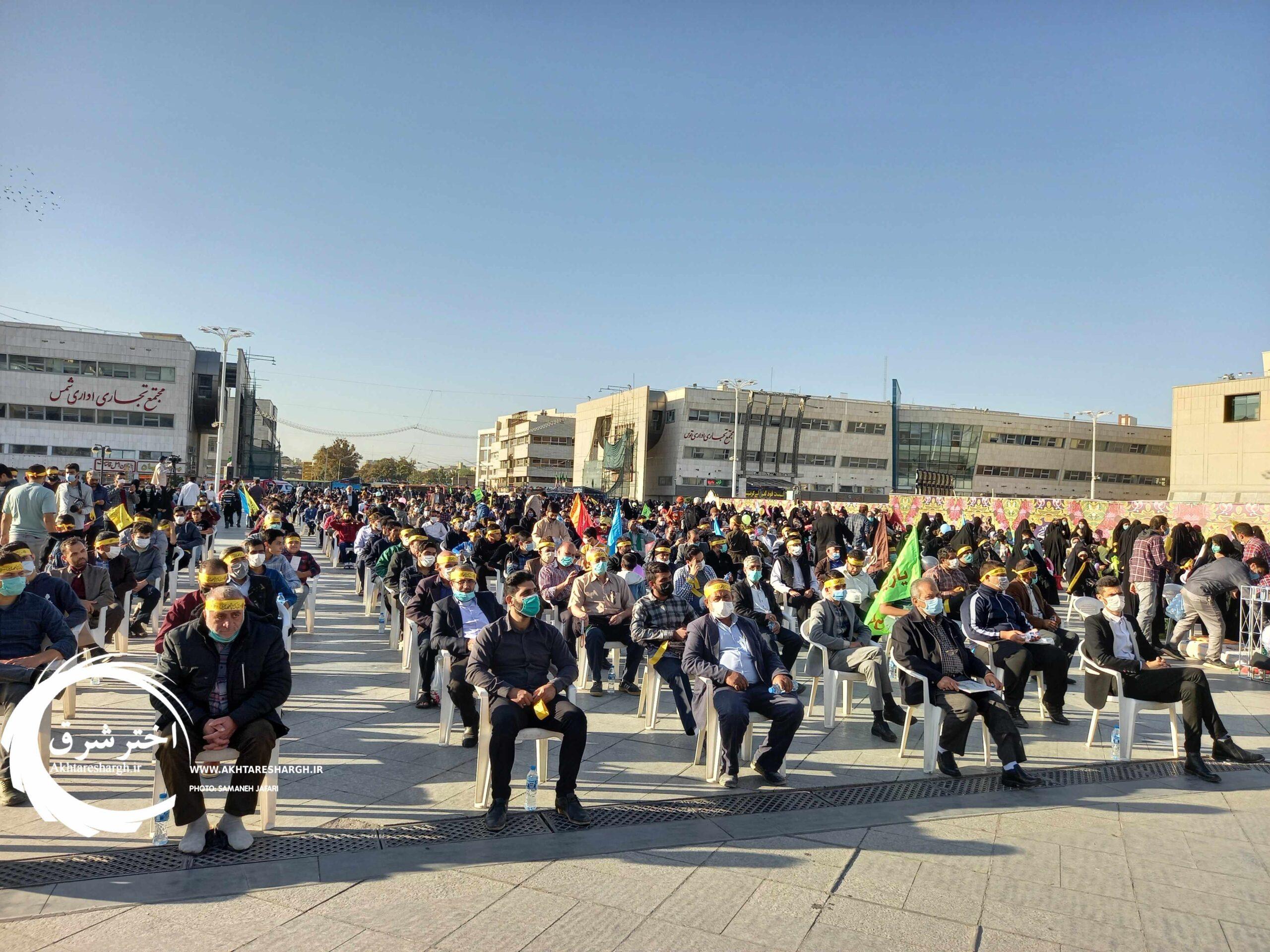گزارش تصویری از برگزاری اجتماع عظیم مردمی عید مبعث با امام زمان (عج) در مشهد